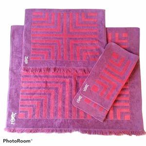 Vintage Yves St-Laurent 60's towel set
